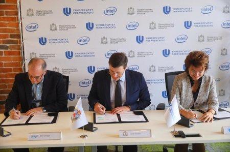 Губернатор, Intel и ННГУ договорились вместе развивать научно-образовательное направление и IT-экосистему региона