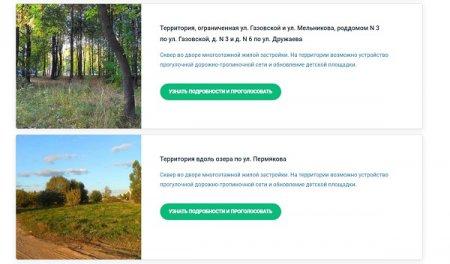 Онлайн-голосование по выбору общественных пространств стартовало в Нижегородской области