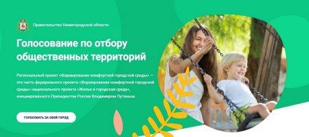 Более 13 тысяч нижегородцев уже приняли участие в рейтинговом онлайн-голосовании за общественные пространства