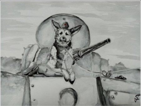 Юная нижегородская художница стала призером всероссийского конкурса о фронтовых собаках