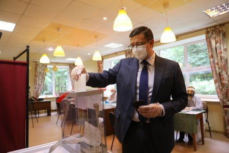 Глеб Никитин проголосовал на выборах депутатов Городской думы Нижнего Новгорода