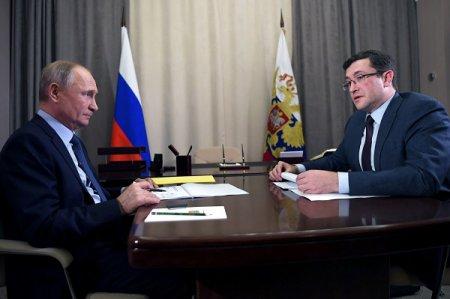 Глеб Никитин доложил Владимиру Путину о ситуации с распространением коронавируса в регионе