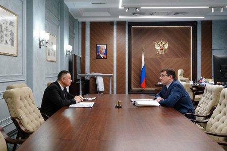 Министр строительства и жилищно-коммунального хозяйства Российской Федерации Ирек Файзуллин и Глеб Никитин провели рабочую встречу