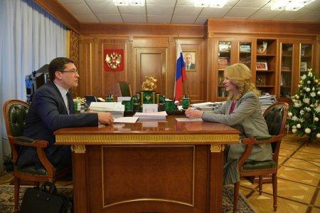 Татьяна Голикова и Глеб Никитин провели рабочую встречу в Москве