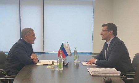 Глеб Никитин провел рабочую встречу с Рустамом Миннихановым