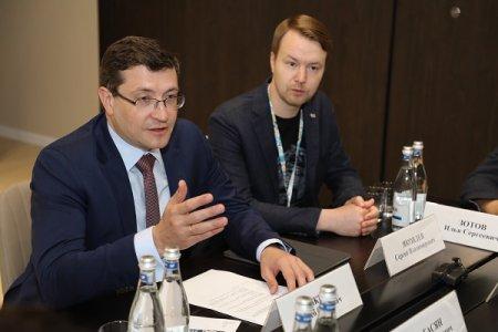 Глеб Никитин провел встречу с президентом ОСИГ Грантом Бабасяном и президентом World Media and Events Limited Грэмом Куком