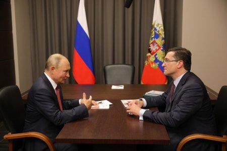 Глеб Никитин доложил Владимиру Путину о социально-экономическом развитии Нижегородской области