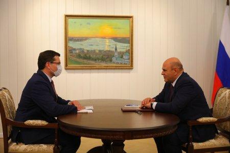 Михаил Мишустин и Глеб Никитин обсудили ситуацию с лесными пожарами